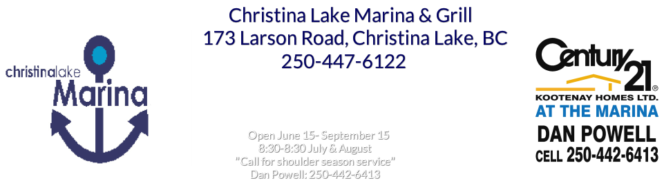 Welcome to the Christina Lake Marina